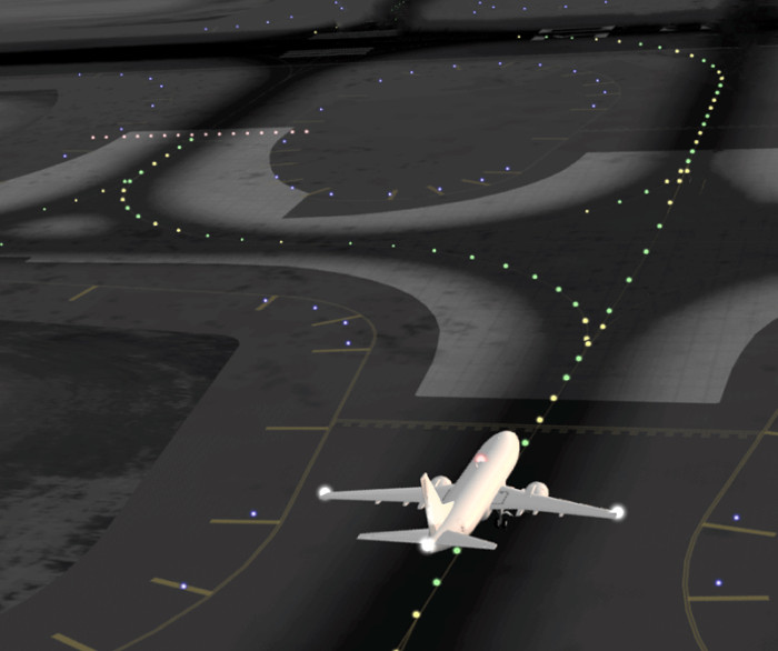 Airport-Lighting without Follow-The-Greens